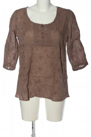 3suisses Bluzka przez głowę brązowy Graficzny wzór W stylu casual