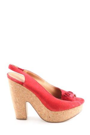 3suisses Slingback pumps rood elegant
