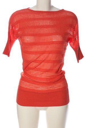3suisses Koszulka z dzianiny czerwony Wzór w paski W stylu casual