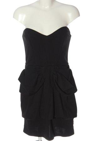 3suisses Vestido de tela de sudadera negro elegante
