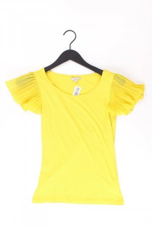 3SUISSES T-Shirt Größe 32/34 Kurzarm gelb aus Viskose