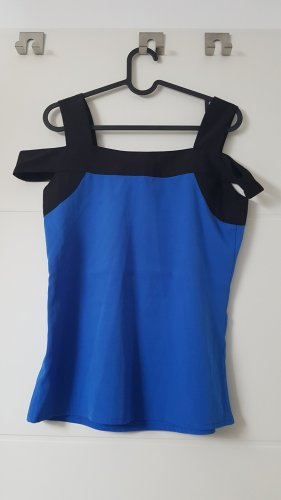 3 Suisses Top cut out negro-azul
