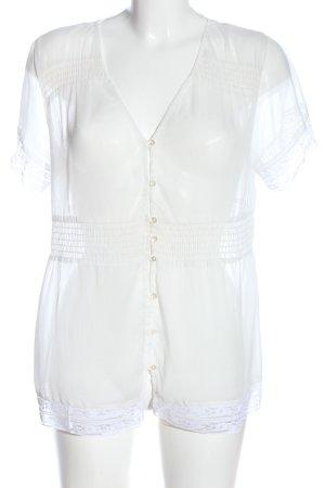3suisses Transparentna bluzka biały W stylu casual