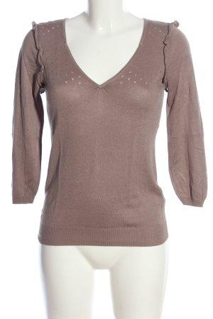 3suisses Sweter z dekoltem w kształcie litery V brązowy W stylu casual