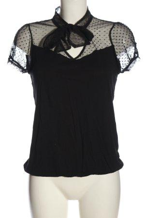 3suisses Koszulka z dekoltem w kształcie litery V czarny W stylu casual