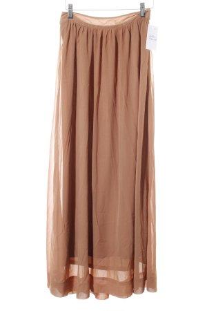 3 Suisses Falda larga marrón claro estilo sencillo