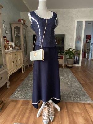 Corsage Dress dark blue viscose