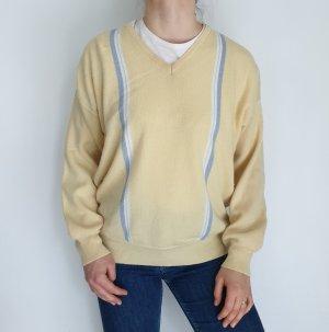 4 castella gelb Cardigan Strickjacke Oversize Pullover Hoodie Pulli Sweater Top True Vintage