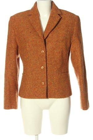4 jahreszeiten Blazer en laine orange clair moucheté style décontracté