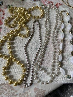 Collana di perle argento-oro