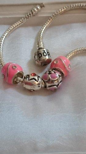 Schmuck Breloque argenté-rose