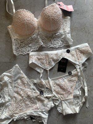 Hunkemöller Set lingerie bianco-crema