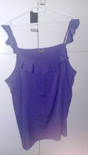 C&A Top à volants noir-violet