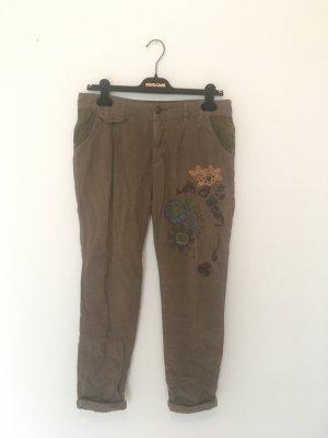 Desigual Pantalon en velours côtelé multicolore coton