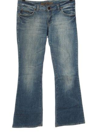 40 Grad Jeans a zampa d'elefante blu stile casual