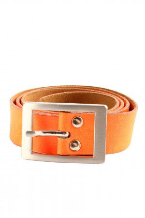40 Grad Cinturón de cuero de imitación naranja claro look casual