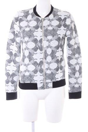 40 Grad Sweat Jacket white-light grey allover print street-fashion look