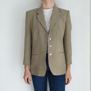 40 kariert gelb blau True Vintage Mantel Trenchcoat leichte Jacke Oversize