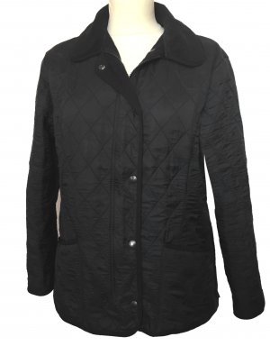 Barbour Quilted Jacket black-anthracite mixture fibre