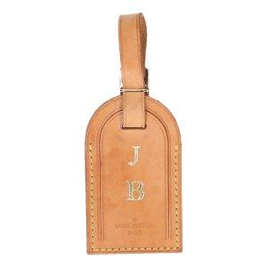 40098 Louis Vuitton Adressanhänger mit eingeprägten Initialen