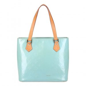 40223 LOUIS VUITTON HOUSTON HANDTASCHE AUS MONOGRAM VERNIS LEDER IN BABY BLUE