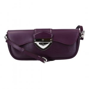 40333 LOUIS VUITTON POCHETTE MONTAIGNE CLUTCH AUS EPI LEDER IN CASSIS
