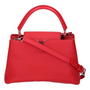 40464 LOUIS VUITTON CAPUCINES PM HENKELTASCHE AUS TAURILLON LEDER IN ROUGE