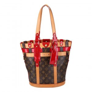 40651 LOUIS VUITTON NEO BUCKET HANDTASCHE AUS MONOGRAM RUBIS CANVAS
