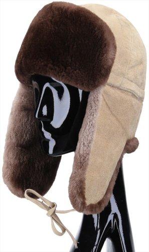 Hermès Aviator Hat beige-brown leather