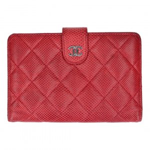 Chanel Wallet dark red leather