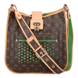 40857 LOUIS VUITTON MUSETTE HANDTASCHE AUS MONOGRAM PERFORATED CANVAS IN GRÜN