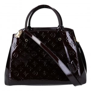 40926 LOUIS VUITTON MONTAIGNE MM HANDTASCHE AUS MONOGRAM VERNIS LEDER IN AMARANTE