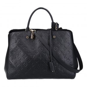 40928 LOUIS VUITTON MONTAIGNE GM HANDTASCHE AUS MONOGRAM EMPREINTE LEDER IN NOIR
