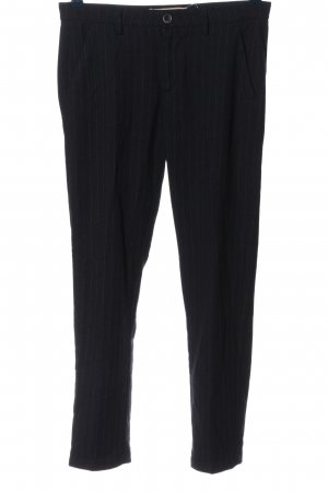 40Weft Jersey Pants black-white striped pattern business style