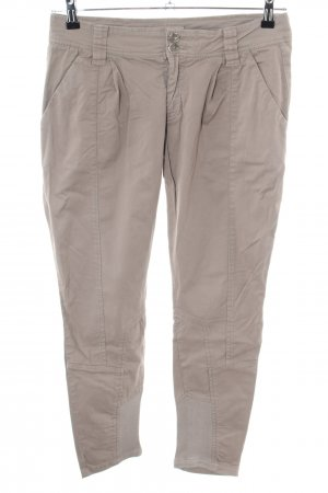 40Weft Stoffhose creme Casual-Look