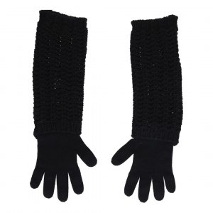 Moncler Knitted Gloves black mixture fibre