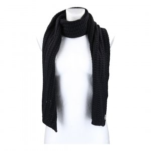 Moncler Knitted Scarf black mixture fibre