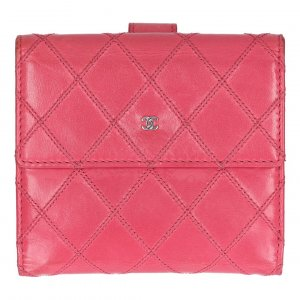 Chanel Wallet pink leather