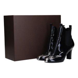 41395 Louis Vuitton Ankle Boot Stiefelette aus Kalbslackleder in schwarz Gr. 40
