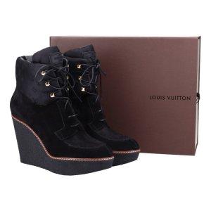 41725 Louis Vuitton Ankle Boot Stiefelette aus Suede Leder in schwarz Gr. 40