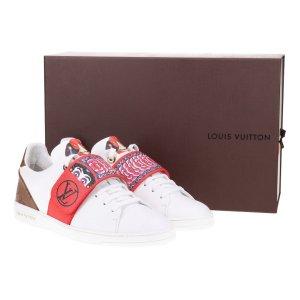 41729 Louis Vuitton Sneaker Frontrow Kabuki aus Kalbsleder in weiss Gr. 40
