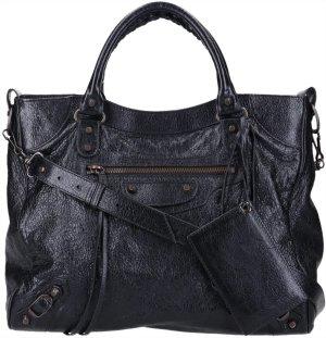 41735 Balenciaga City Velo Tasche Handtasche aus Leder im vintage Look in schwarz