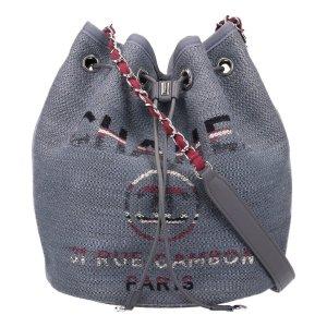 41812 Chanel Deauville Bucket Handtasche aus Textil