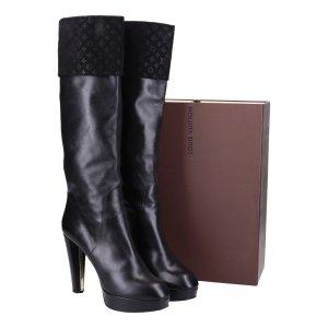 41840 Louis Vuitton Stiefel aus Kalbsleder in schwarz Gr. IT 40