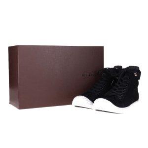 41869 Louis Vuitton Sneaker aus Suede Leder in schwarz Gr. 39