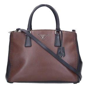 41920 Prada City Tasche Handtasche aus Leder in Cacao Braun und schwarz