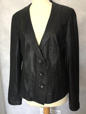 42 L ORWELL echt Leder Jacke Blazer schwarz ungetragen