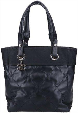 42162 Chanel CC Paris Biarritz PM Tasche Handtasche Shopper in schwarz