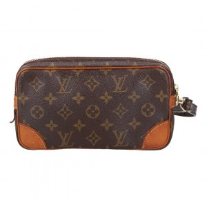 42668 LOUIS VUITTON POCHETTE MARLY DRAGONNE CLUTCH AUS MONOGRAM CANVAS