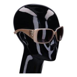 Gucci Gafas de sol ovaladas marrón grisáceo